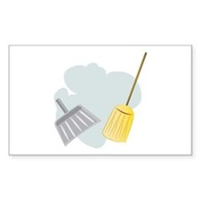 Broom & Dust Pan Decal