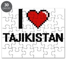 I Love Tajikistan Digital Design Puzzle