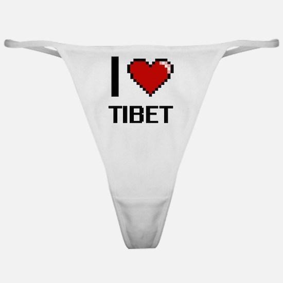 Unique I love tibet Classic Thong