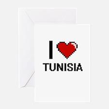 I Love Tunisia Digital Design Greeting Cards