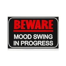 Beware Mood Swing In Progress Rectangle Magnet (10