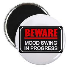 """Beware Mood Swing In Progress 2.25"""" Magnet (10 pac"""