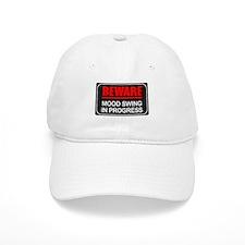 Beware Mood Swing In Progress Baseball Cap