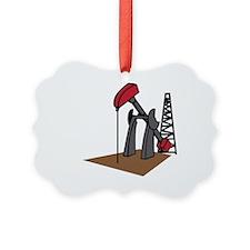 OIL RIG AND DERRICK Ornament