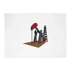 OIL RIG AND DERRICK 5'x7'Area Rug
