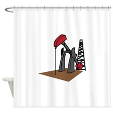 OIL RIG AND DERRICK Shower Curtain