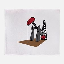 OIL RIG AND DERRICK Throw Blanket