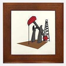 OIL RIG AND DERRICK Framed Tile