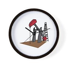 OIL RIG AND DERRICK Wall Clock