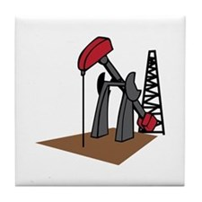 OIL RIG AND DERRICK Tile Coaster
