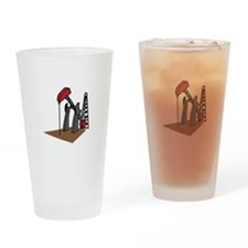 OIL RIG AND DERRICK Drinking Glass