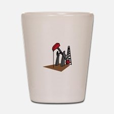 OIL RIG AND DERRICK Shot Glass
