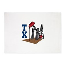 OIL RIG AND TEXAS 5'x7'Area Rug