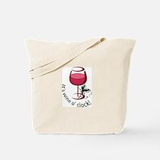 ITS WINE O CLOCK Tote Bag