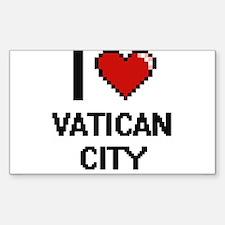 I Love Vatican City Digital Design Decal