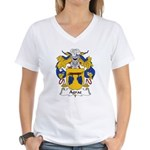 Agraz Family Crest Women's V-Neck T-Shirt