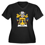 Agraz Family Crest Women's Plus Size V-Neck Dark T