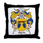 Agraz Family Crest Throw Pillow