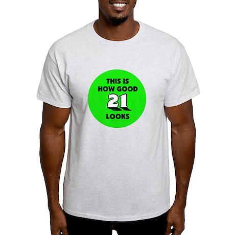 21st Birthday - Happy Birthday Light T-Shirt