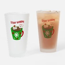 STAY WARM COCOA Drinking Glass