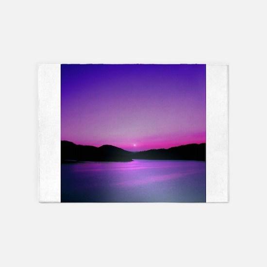 Moonrise Sunset 5'x7'Area Rug