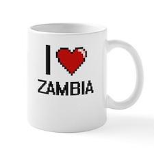 I Love Zambia Digital Design Mugs