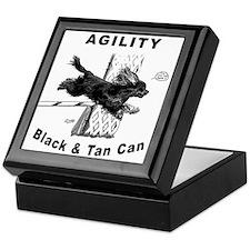 Black & Tan Cavalier Agility Keepsake Box
