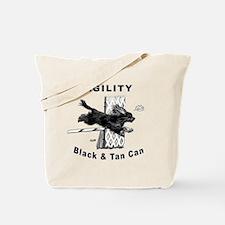 Black & Tan Cavalier Agility Tote Bag