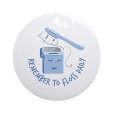 Floss Daily Round Ornament