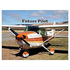 Future Pilot high wing aircraft Poster