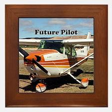 Future Pilot high wing aircraft Framed Tile