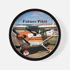 Future Pilot high wing aircraft Wall Clock