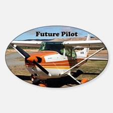 Future Pilot high wing aircraft Sticker (Oval)