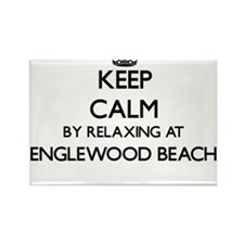Keep calm by relaxing at Englewood Beach F Magnets