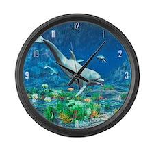 Underwater World 2 Large Wall Clock