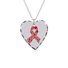Red Awareness Ribbon Necklace