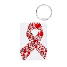 Red Awareness Ribbon Keychains