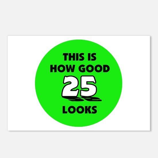 25th Birthday - Happy Birthda Postcards (Package o