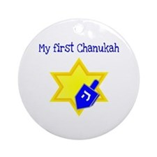 My First Chanukah Ornament (Round)