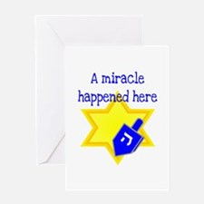 A Miracle Happened Here Greeting Card