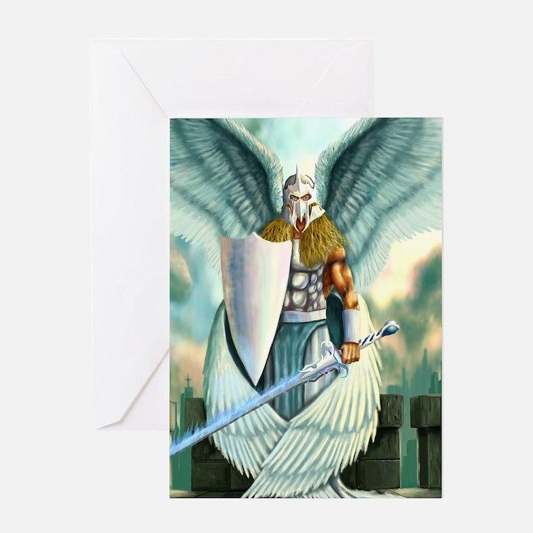 Saint Archangel Michael Greeting Cards