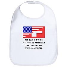That Makes Me Swiss American Bib