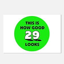 29th Birthday - Happy Birthda Postcards (Package o