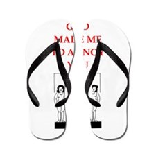 funny sports and game joke Flip Flops