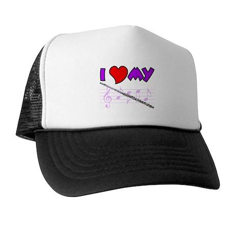 I Heart My Flute Trucker Hat