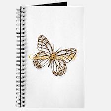 Cute Gold Butterfly Journal