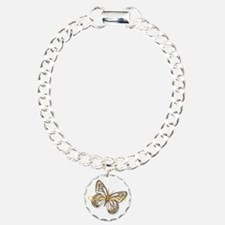 Cute Gold Butterfly Charm Bracelet, One Charm