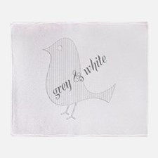 Cute Paper Bird Throw Blanket
