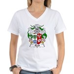 Adell Family Crest  Women's V-Neck T-Shirt