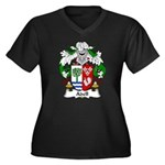 Adell Family Crest  Women's Plus Size V-Neck Dark